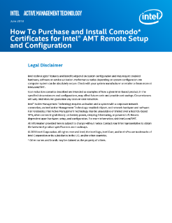 How to Purchase and Install Comodo* Certificates for Intel® AMT Remote Setup and Configuration