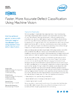 Defect Classification Using Machine Vision
