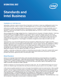 Standards, Patents, and Intel Business Informational Brief