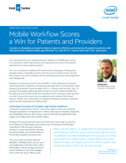 Mobile Workflow Enhances Productivity and Privacy in Healthcare
