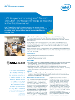 Case Study  Intel® Trusted Execution Technology