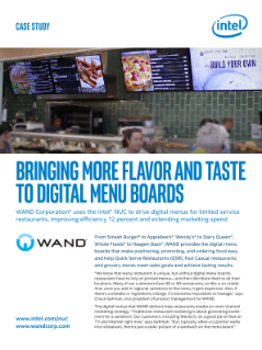 Intel® NUC Brings More Flavor and Taste to Digital Menu Boards