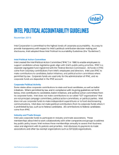 Intel Political Accountability Guidelines