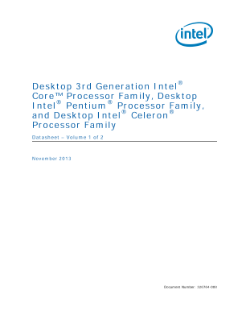 Desktop 3rd Gen Intel® Core™ Processor Family: Datasheet, Vol. 1