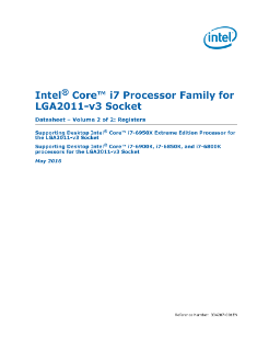 Datasheet, Vol. 2: Intel® Core™ i7 Processor for LGA2011-v3 Socket