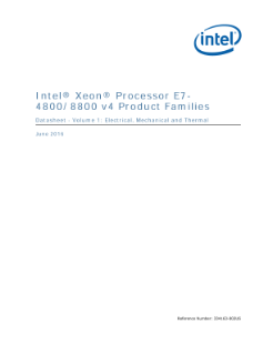 Intel® Xeon® Processor E7-8800/4800 v4 Family Datasheet, Vol. 1