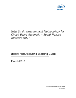 Intel Strain Measurement Methodology for Circuit Board Assembly