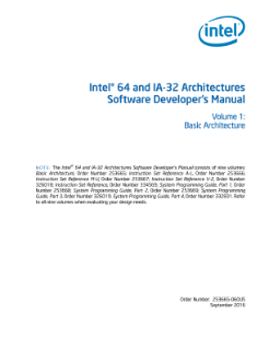 Intel® 64 and IA-32 Architectures Developer's Manual: Vol. 1