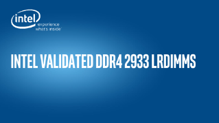 Intel Validated DDR4 2933 LRDIMMS