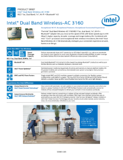 Intel® Dual Band Wireless-AC 3160 Plus Bluetooth® 4.0