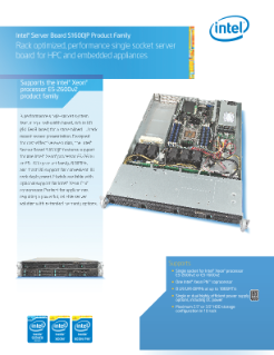 Intel® Server Board S1600JP Product Brief