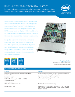 Intel® Server Product S2600WT Family Product Brief