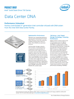 Intel® Solid-State Drive 730 Series Product Brief