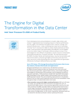 The Engine for Digital Transformation in the Data Center