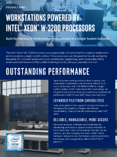 Workstations Powered by Intel® Xeon® W-3200 Processors