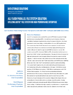 All Flash Parallel File System Solution: Utilizing Lustre* File System for High-Performance Enterprise