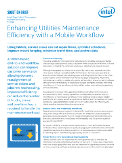 A Mobile Workflow Enhances Efficiency in Utilities