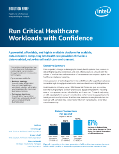 Run Critical Healthcare Workloads with Technologies from Intel