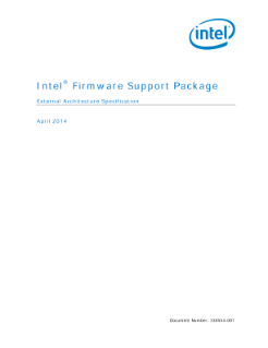 ®  Intel Firmware Support Package