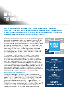 Intel® Endpoint Management Assistant (Intel® EMA) Product Brief