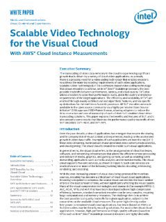Scalable Video Technology per il visual cloud