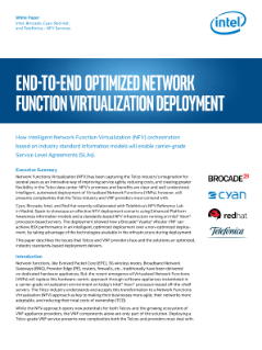 End-to-End Optimized NFV Deployment