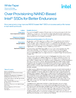 Over-Provisioning NAND-Based Intel® SSDs for Better Endurance