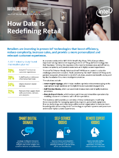 Intel® IoT Market Ready Solutions for Retail