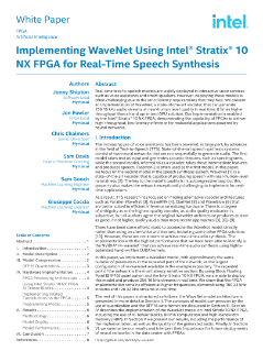 Text to Speech Synthesis Using Intel® Stratix® 10 NX FPGA